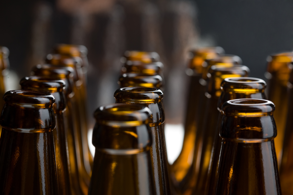 Beer bottles, izolated studio shot